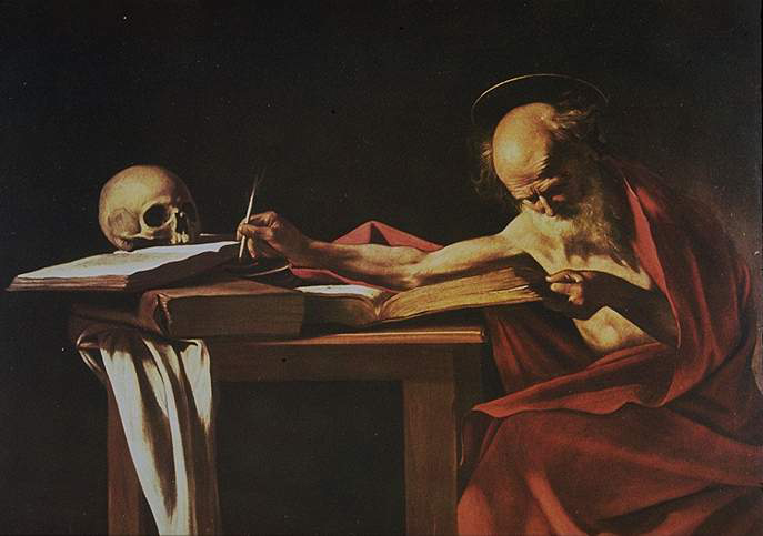 Caravage Saint jerome